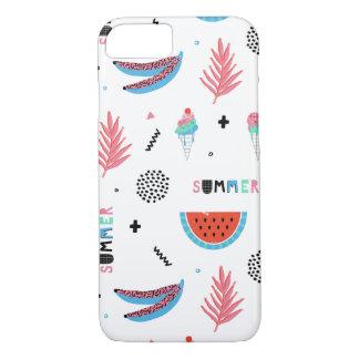 Fun Summer Elements Pattern iPhone 7 Case