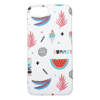 Fun Summer Elements Pattern iPhone 8/7 Case