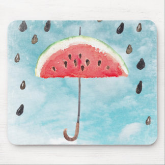 Fun Summer Fresh Melon Fruit Rain Mouse Pad
