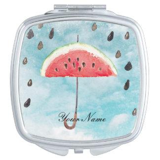 Fun Summer Fresh Melon Fruit Rain Vanity Mirror