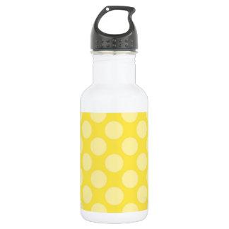 Fun Summer Yellow Polka Dots on Yellow 532 Ml Water Bottle