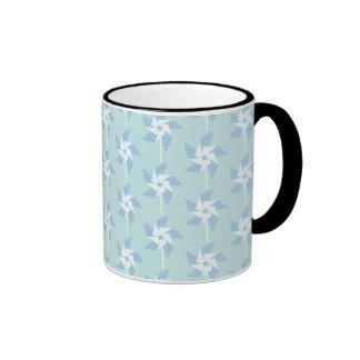 Fun Summery Pinwheels Ringer Mug