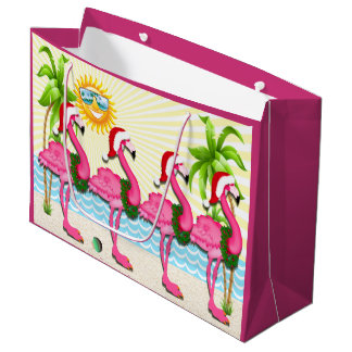Fun Sun and Pink Flamingo #holidayZ Tote Large Gift Bag