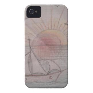 Fun sun blue iPhone 4 case