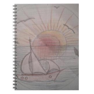 Fun sun blue notebook