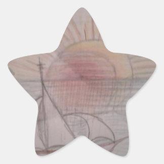 Fun sun blue star sticker