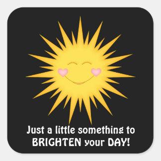 Fun sunshine cartoon inspirational sticker
