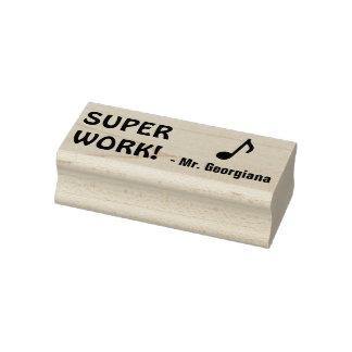 """Fun """"SUPER WORK!"""" Marking Rubber Stamp"""