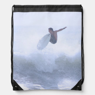 Fun Surfing Drawstring Bag