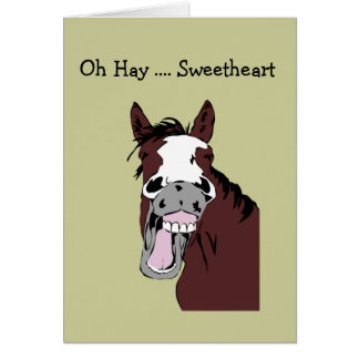 Fun Sweetheart Birthday Great Day to Horse Around Greeting Card