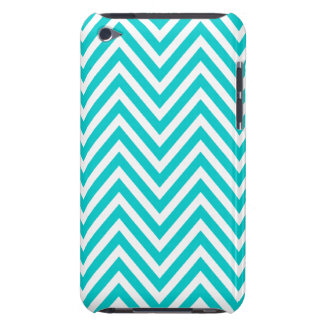 FUN TEAL BLUE CHEVRON PATTERN iPod Case-Mate CASES