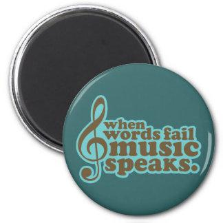 Fun Teal Music Speaks Musician Gift Magnet