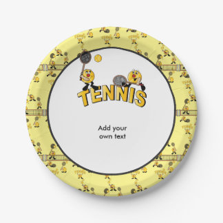 Fun Tennis Players 7 Inch Paper Plate