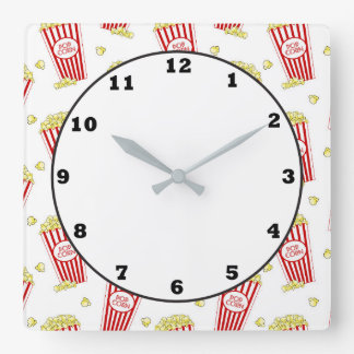 Fun Theater popcorn patternhome decor clock