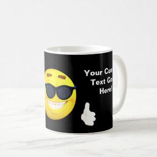 Fun Thumbs Up Emoji with Your Custom Text Coffee Mug