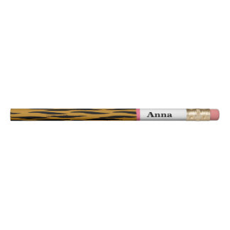 Fun Tiger Print with Pink Trim | Personalized Pencil
