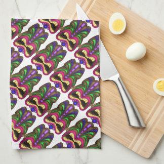 Fun Tiki pattern kitchen towel