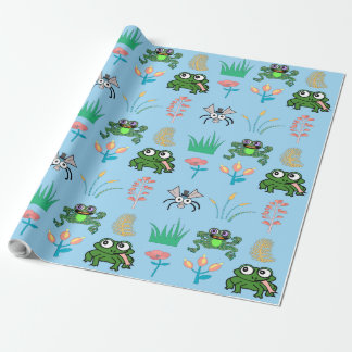 Fun Times At The Lily Pad Wrapping Paper