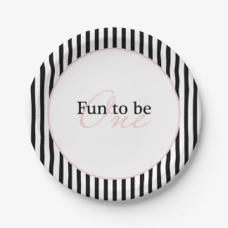 Fun To Be One 7 Inch Paper Plate
