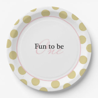 Fun to be One 9 Inch Paper Plate