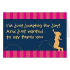 Fun Trampoline Birthday Thank You Cards - Girls