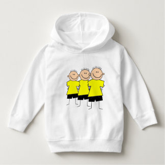 Fun Triplet Boys Design Toddler Hoodie