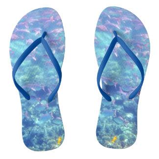 Fun Tropical Fish Flip Flops