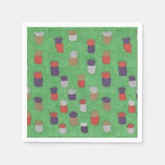 Fun Tropical Pineapple Paper Napkins