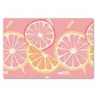 Fun Tropical Pink grapefruit and lemon pattern Tissue Paper