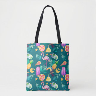 Fun Tropical Summer Pattern Tote Bag