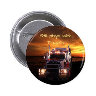 Fun Truck Drivers 2 Inch Round Button