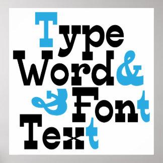 Fun Type design Poster