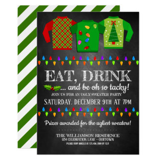 Fun Ugly Christmas Sweater Party Invitation