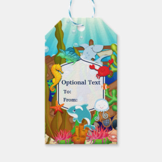 Fun under the sea kids birthday party pack of gift tags