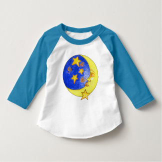 Fun Unisex stars and moon toddler t-shirt