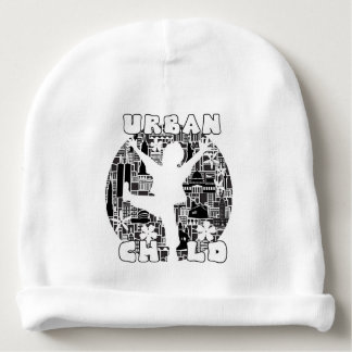 FUN URBAN CHILD CITYSCAPE ILLUSTRATION BABY BEANIE