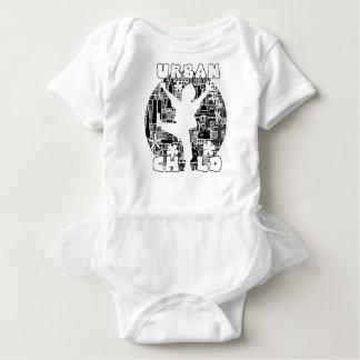 FUN URBAN CHILD CITYSCAPE ILLUSTRATION BABY BODYSUIT