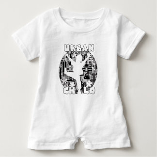 FUN URBAN CHILD CITYSCAPE ILLUSTRATION BABY ROMPER