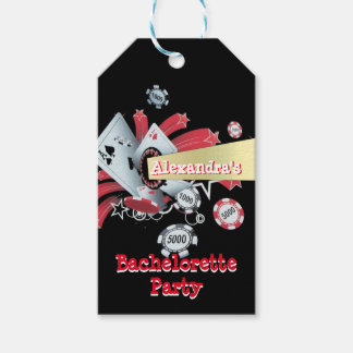 Fun Vegas poker casino chip bachelorette party Gift Tags