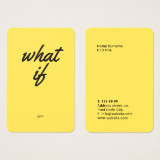 Fun Vibrant & Bold Business Card Template