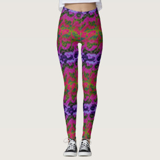 Fun Vibrant Colourful Leggings
