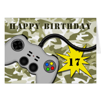 Fun Video Game Controller Teenager Birthday Card