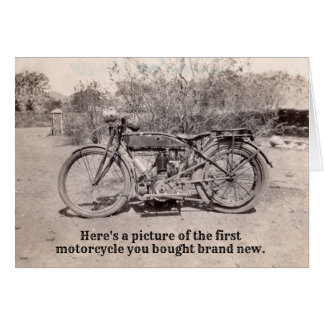 Fun Vintage Classic Motorcycle Rider Birthday Card