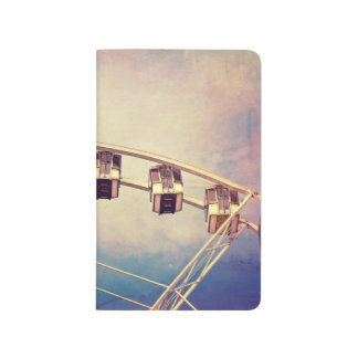 Fun Vintage Ferris Wheel Photo Pocket Journal