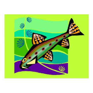 Fun Vintage Retro Tropical Fish Postcard