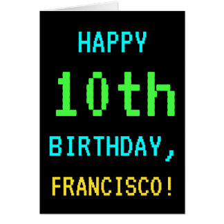 Fun Vintage/Retro Video Game Look 10th Birthday Card