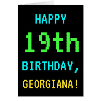 Fun Vintage/Retro Video Game Look 19th Birthday Card