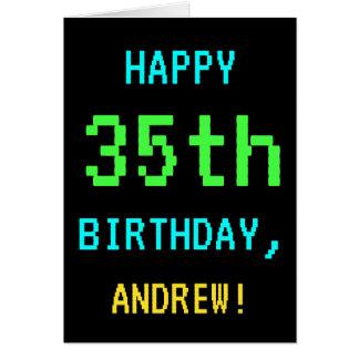 Fun Vintage/Retro Video Game Look 35th Birthday Card
