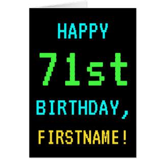Fun Vintage/Retro Video Game Look 71st Birthday Card