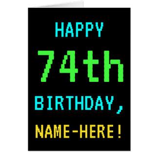 Fun Vintage/Retro Video Game Look 74th Birthday Card